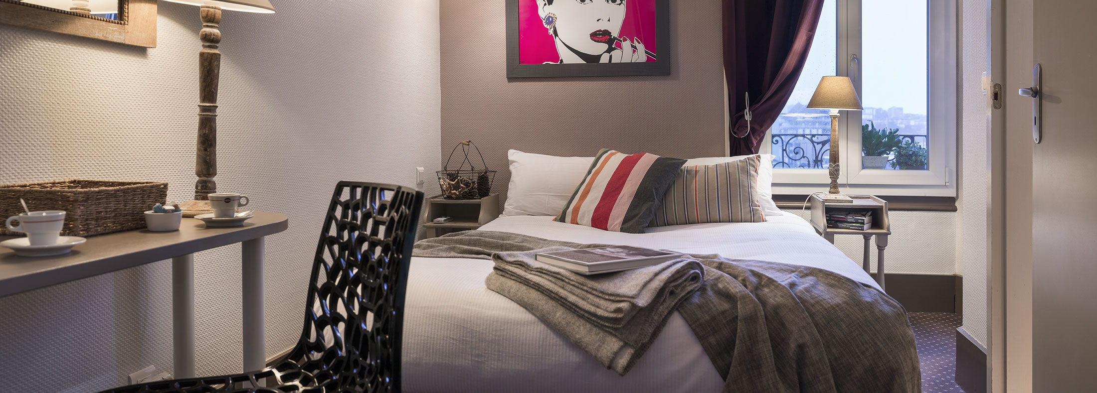 Chambre confort Hôtel des Alpes - Centre ville Annecy