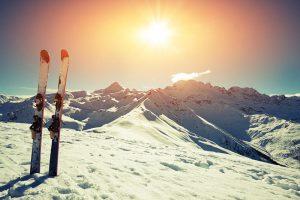Ski au printemps dans les Alpes