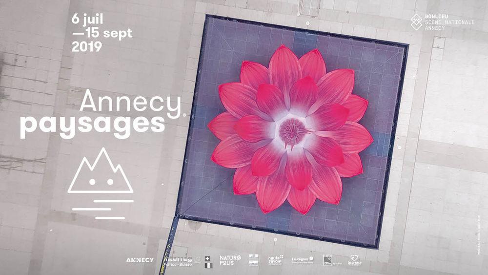 Annecy paysage affiche